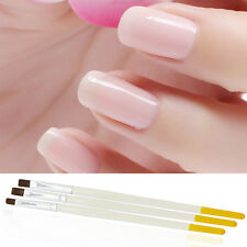 New 3pcs/set Acrylic Nail Art Salon Pen Tips UV Gel Builder Painting Brushes