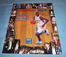 Kansas Jayhawks vs Texas A&M Basketball Game Program Magazine 1999 Bradford