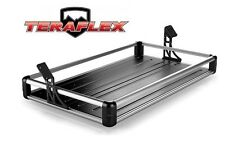 TeraFlex Rear Utility Cargo Rack - Silver for 2007-2016 Jeep Wrangler JK 4 Door