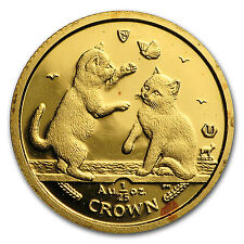 2004 Isle of Man 1/25 oz Gold Tonkinese Cat Bu - Sku #35696