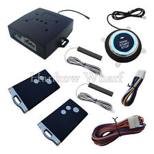 Passive Keyless Entry Car Alarm System With Push Button & Remote Control Start