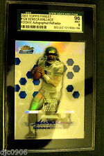 Seneca Wallace RC 2003 Topps Finest ROOKIE Auto Refractor Graded SGC 9-Seahawks