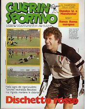 GUERIN SPORTIVO=N.14 1984=POSTER MANCHESTER United/DUNDE United=POSTER ROMA