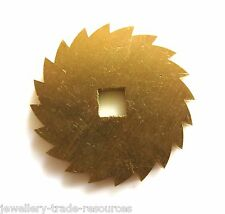 24mm REPLACEMENT BRASS CLOCK WINDING RATCHET WHEEL SPARES REPAIRS PARTS