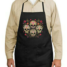 Gothic Sugar Skulls New Apron Kitchen Grill Bar Gifts Events Day of the Dead