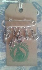 HAND MADE Country & Western Cowboy Line DancIng inspired Silver Pin Brooch