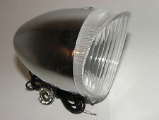 Phare Retro 6V / 2,4 W chromé Lampe De Vélos pour Glissières latérales n° 01015