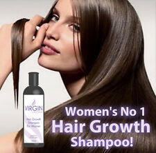 VIRGIN FOR WOMEN HAIR LOSS SHAMPOO GROW LONG THICK GLOSSY HAIR ANTI BALD