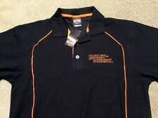 Harley Davidson Black polo Shirt NWT Men's medium (fits large)