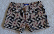 RARE VINTAGE BURBERRY JAPANESE BLUE LABEL HOUSE CHECK SHORTS SIZE UK 2