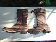 Timberland Brown Suede Tall Boots STEAM punk COSplay Size 9 w