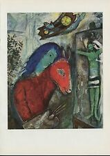 "1963 Vintage ""SELF-PORTRAIT WITH WALL CLOCK, 1947"" MARC CHAGALL COLOR Lithograph"