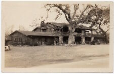 Real Photo Postcard Wood and Stone Lodge possibly in California~106570