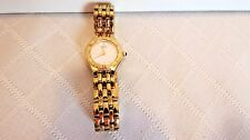 Estate Seiko Ladies Gold Tone Roman Numeral Bezel Link Bracelet Watch 4N00-0789