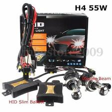 55W H4 HID Kit Conversion Bi Xénon Hi-Low 3200LM Bulb SLIM Ballast 6000K Ampoule