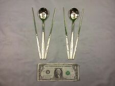 Gold Korean Traditional Chopsticks and Spoon Set Two Spoons Four Chopsticks