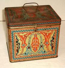 Antique N. B. C. Uneeda Advertising Biscuit Tin Can Great Graphics