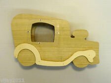 Wooden Money Box coin collection bank Vintage Car, DIY Arts & Crafts decoupage