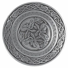 Circular Celtic Hounds Scottish Kilt Belt Buckle