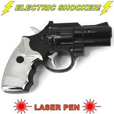 Electric Shock Gun Black Pistol Laser Light Prank Novelty Trick Party UK SELLER