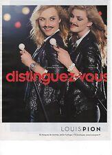 Publicité Advertising 2012 montre LOUIS PION distinguez-vous