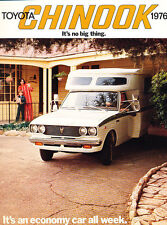 1976 Toyota Truck Motorhome Camper Chinook Original Car Brochure Folder