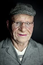 "Silicone Mask Old Man ""Marvin"" Halloween Hand Made Realistic High Quality,"