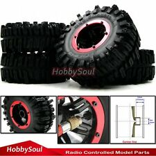 4pcs New RC air system Crawler Tires 124mm & 2.2 Beadlock Wheels For Axial RC4WD