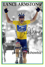 * LANCE ARMSTRONG * AUTOGRAPHED PHOTO OF THE TOUR DE FRANCE 7 TIMES WINNER *
