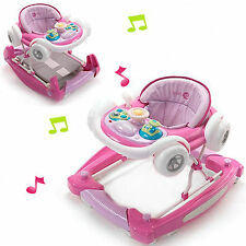 NEW MY CHILD PINK CANDY MUSICAL COUPE CAR HEIGHT ADJUSTABLE BABY WALKER ROCKER