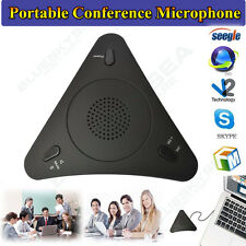 Pro USB 3.5mm Microphone MIC VOIP Conference Phone Skype Omnidirectional Speaker