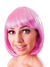 Ladies Pink Elegant 20s Flapper Style Short Bob Wig Fancy Dress Accessory New