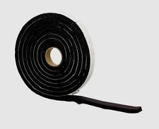 "New! 06635 M-D WEATHERSTRIPPING TAPE Blk Rubber Self Adhesive 3/8"" x 3/4"" x 10'"