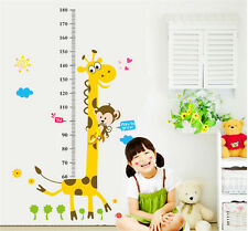 Wall Sticker Cartoon Giraffe Animal High Kid Height Measurement Growth Chart