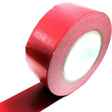 1, 50 METERS x 50mm RED GAFFER TAPE, CLOTH DUCK DUCT TAPES, GAFFA