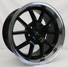 """18"""" Black Mustang FR500 Wheels Rims Staggered 18x9 18x10 5x114.3 18 inch 94-04"""