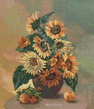 WALL TAPESTRY Sunflowers EUROPEAN FLORAL DECOR PICTURE