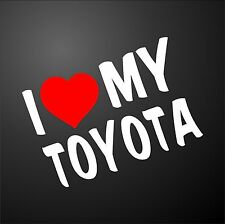 I LOVE MY TOYOTA YARIS RAV4 MR2 Car Window Bumper Graphic Sticker alloy wheels