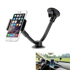 Long Arm Universal Windshield Dashboard Car Phone Mount Cradle 2 Sizes Holders