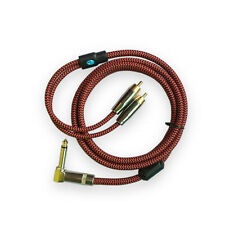 "Hifi Right Angle 1/4"" MONO TRS Jack to Dual RCA Phono Male Bess Guitar Cable 1M"