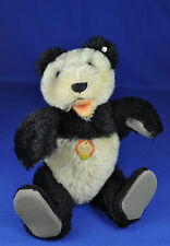 Steiff: teddy ours/Bear panda 5322,2, 1954-1958, KF/with button and name jour