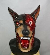 Evil Halloween Zombie Dog Mask Latex Doberman Fancy Dress Resident Canine Horror