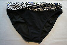 Profile By Gottex Bikini Bottom Sz 6 Black Blue White Forbidden Love Swim Bottom