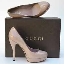 GUCCI New sz 40 - 10 Womens Designer Beige Platform High Heels Shoes Authentic