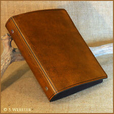 A5 BROWN LEATHER 6 RING BINDER, FILOFAX COMPATIBLE ORGANISER. Free initials.
