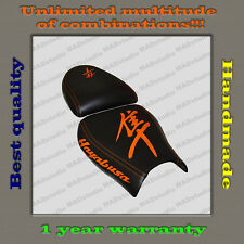 CUSTOM Design Seat Cover Suzuki Hayabusa 99-07 black+orange 001