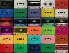 100 color audio cassette tapes w/cases BLANK Choose 4 colors/times GOLD & SILVER