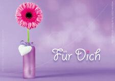 Geburtstagskarte Klappkarte, Kuvert Glückwunschkarte Grußkarte Blumen Für Dich!