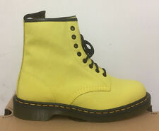 DR. MARTENS 1460 WILD YELLOW VIRGINIA   LEATHER  BOOTS SIZE UK 9