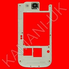 White Back Housing Frame Bezel Middle Rear Camera Cover Samsung Galaxy S3 i9300